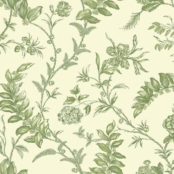 WM2519 Williamsburg Solomon's Seal Wallpaper by York