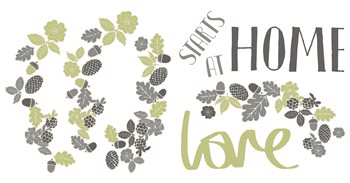WS40976 Love Starts At Home Wall Sticker by Brewster