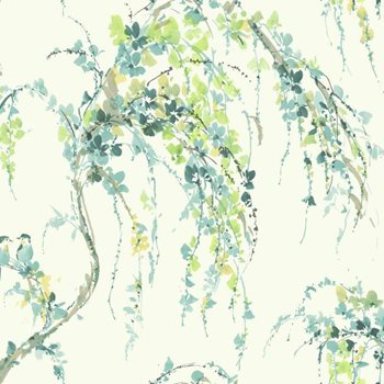 WT4559 Watercolors Lovebirds Wallpaper by York