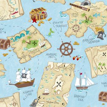 Ys9295 Peek A Boo Pirate Map Wallpaper By York
